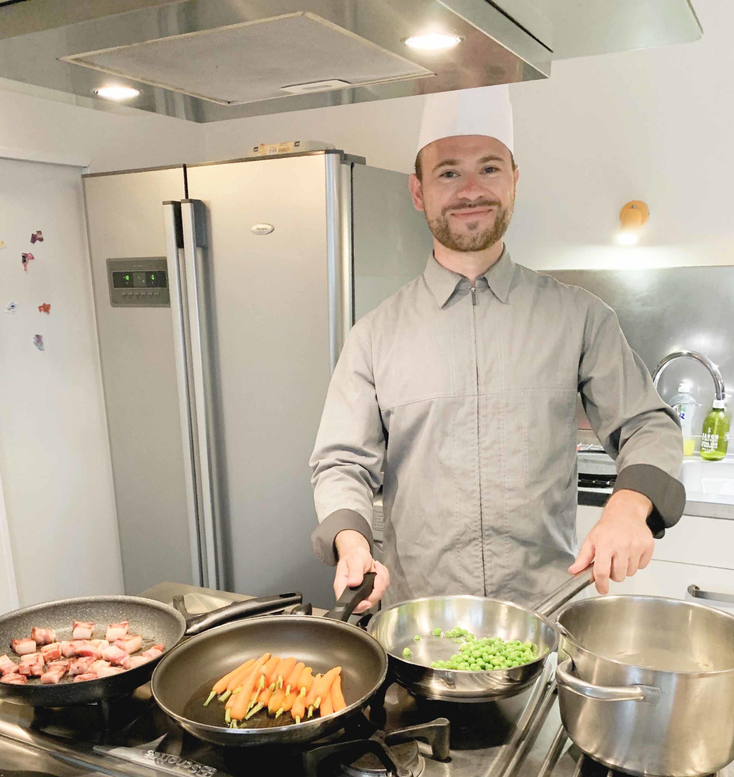 Chef Adam Brunet à domicile  Au Patio comme au restaurant